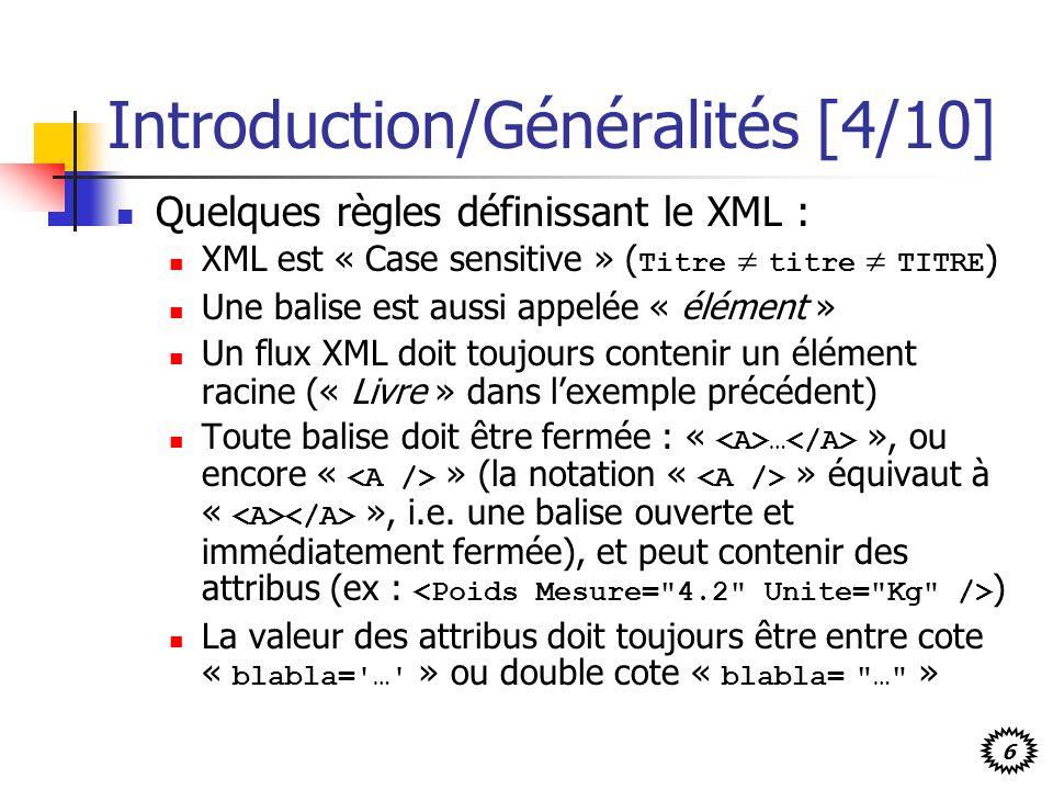 Introduction/Généralités [4/10]